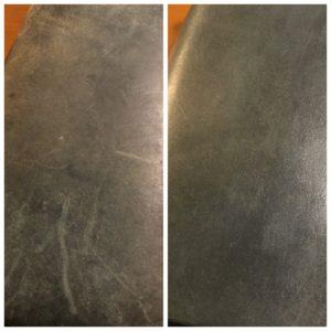 コロニルを塗る前後 表面拡大