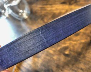 無印良品ヌメ革ベルト 表面のひび割れ