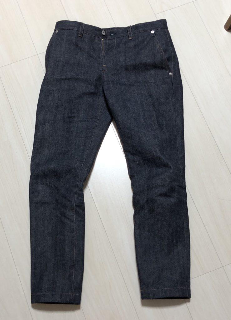 ヌッテで作ったジーンズ正面