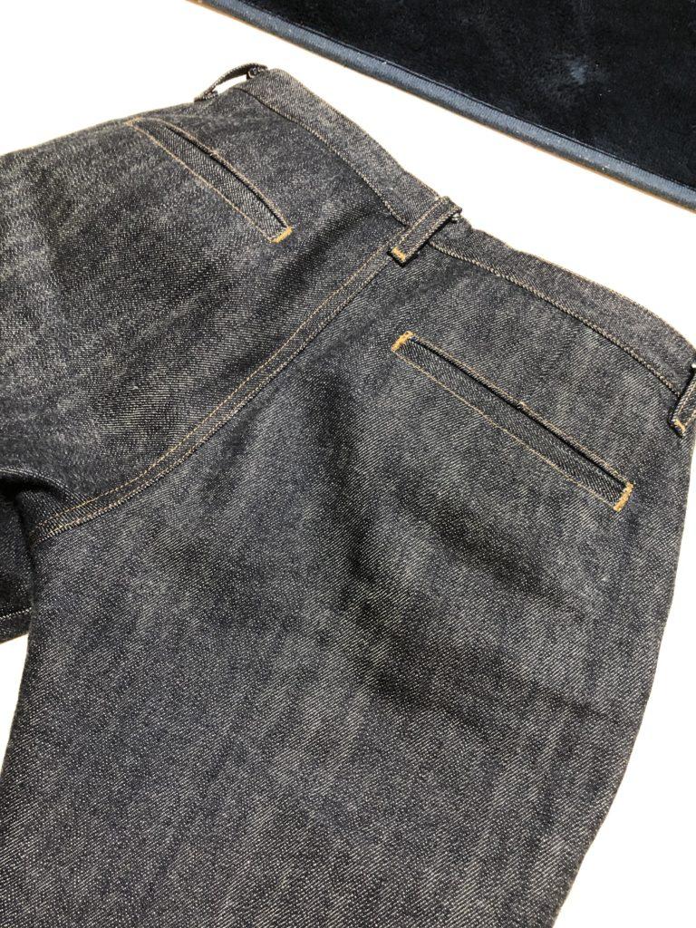 ヌッテで作ったジーンズ 玉縁ポケット