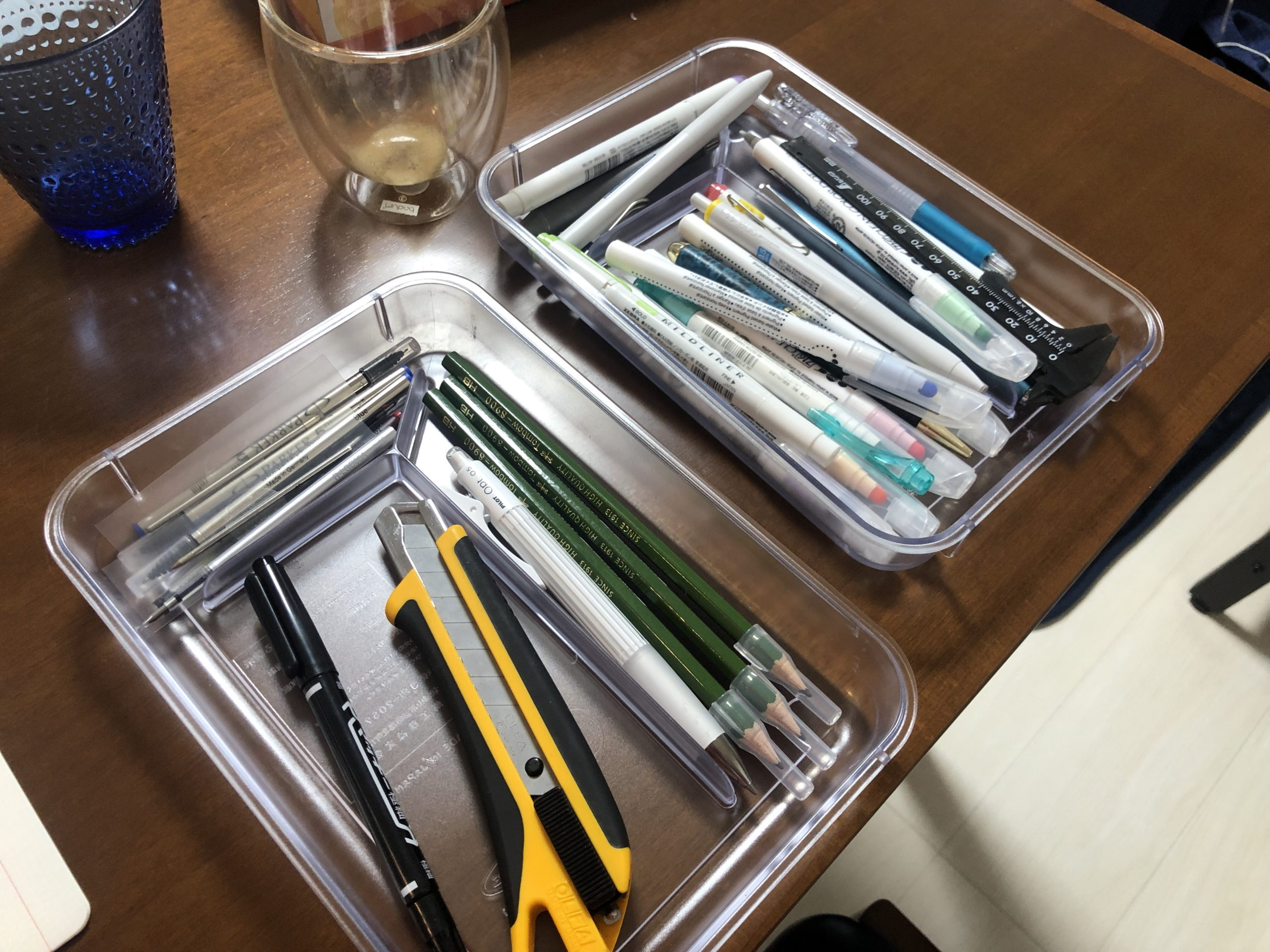 テレワークで文房具を整理