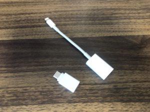 PS4からiPhone、iPadへ動画をコピーする。変換ケーブル。