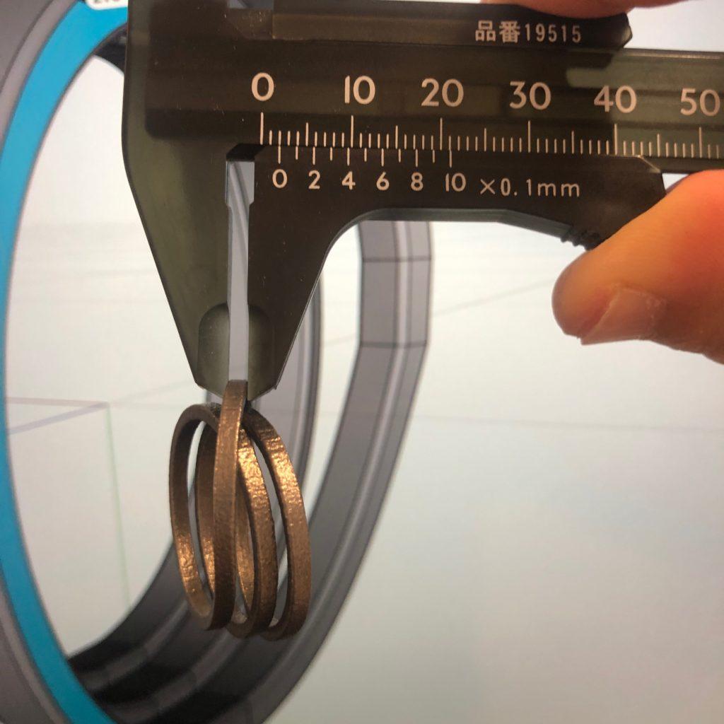 3Dプリント チタン指輪 本体幅