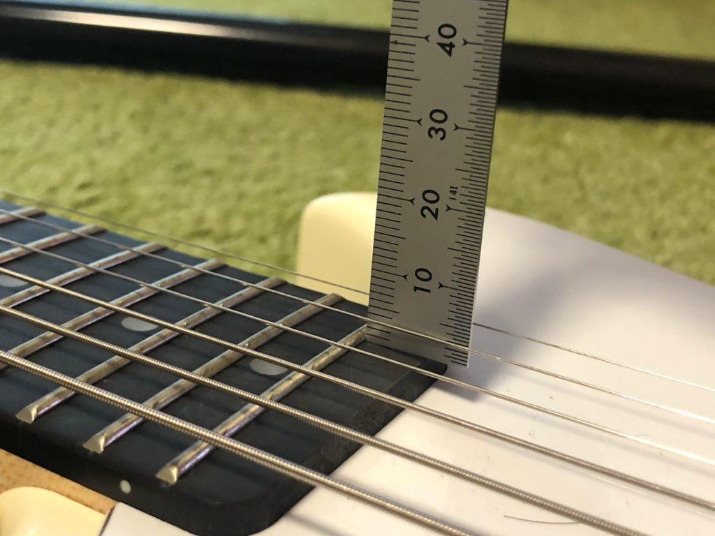 ミニギター VOX SDC-1 mini 19フレット付近の弦高