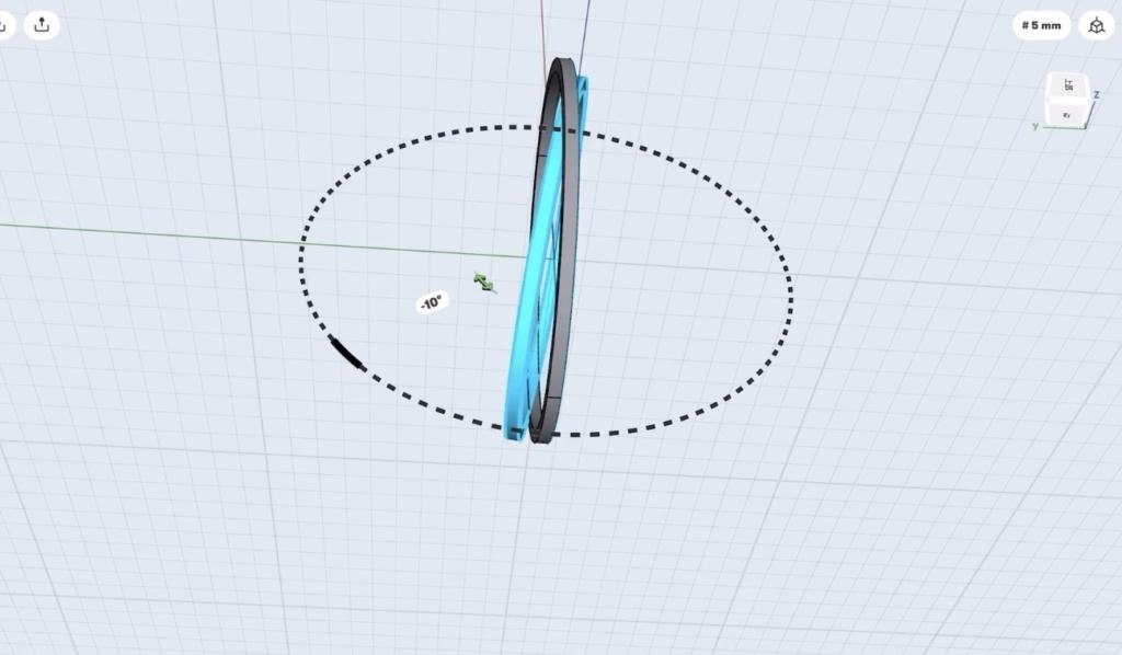 Shapr3Dの使い方 バングルを作る。片方の楕円を回転させる