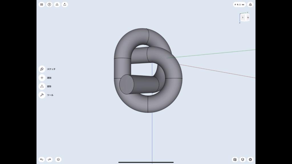 Shapr3Dの使い方 結び目 完成2