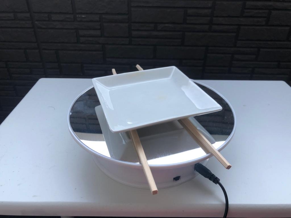 チタン酸化皮膜を作って色を変化させる 陶器のお皿