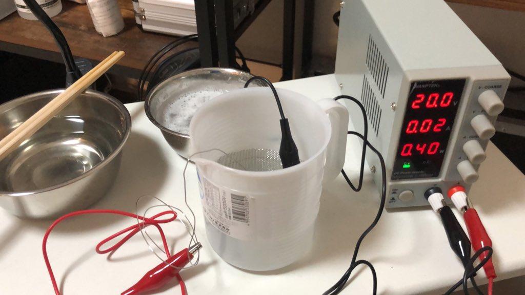 チタンの陽極酸化をDIY 道具を接続