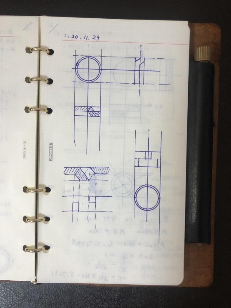 2021年の手帳 プロッター デザイン画
