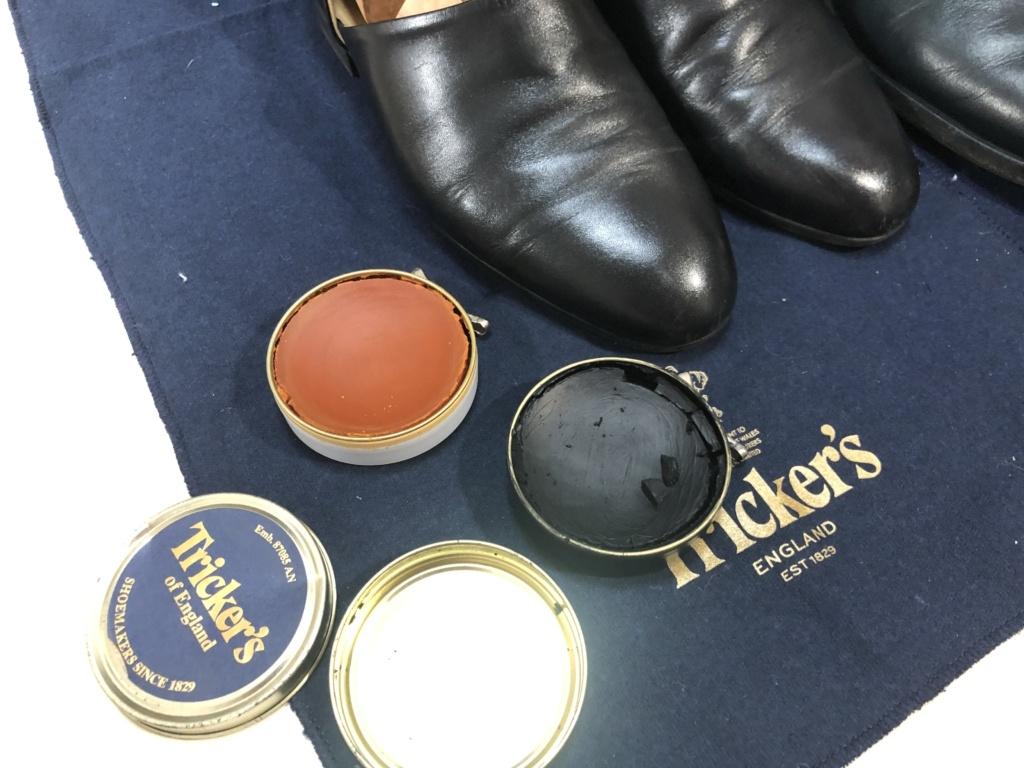 トリッカーズの靴をメンテナンス 純正ワックス
