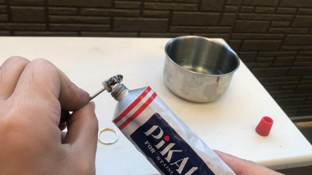 独学で指輪作り 仕上げ磨きピカール
